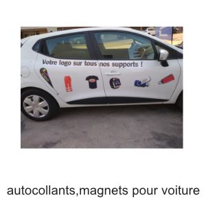 autocollant micro perforé magnet véhicule voiture