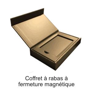 coffret rabas fermeture magnétique