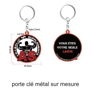 porte clé métal sur mesure