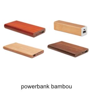 powerbank bambou